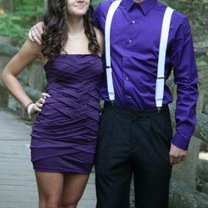 Purple mini short homecoming/party dress